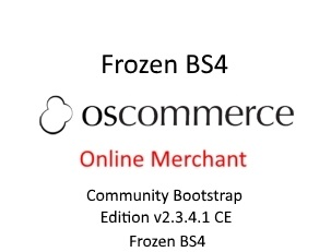 osCommerce Online Merchant CE Frozen with BS4 Shop Side